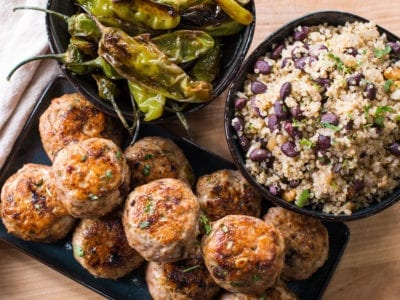 Turkey Meatball Meal Prep with Quinoa