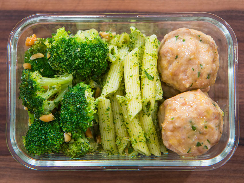 chicken-meatballs-pesto-meal-prep