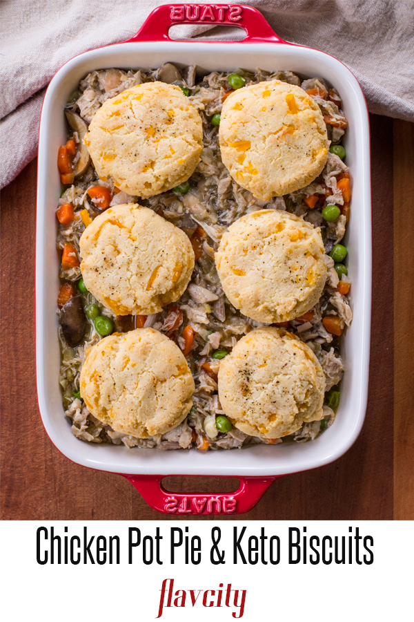 Easy Chicken Pot Pie With Keto Biscuits