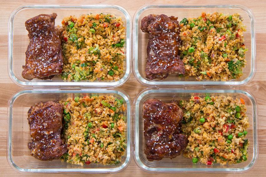 Easy Chicken Thigh Quinoa Meal Prep