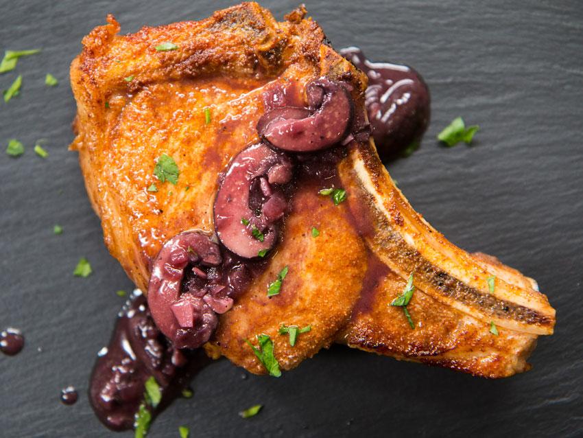 pork chops with mushrooms