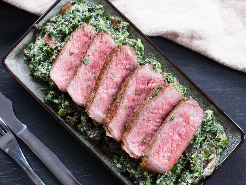 strip-steak-creamed-spinach