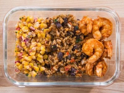 easy shrimp recipes with mexican rice and beans
