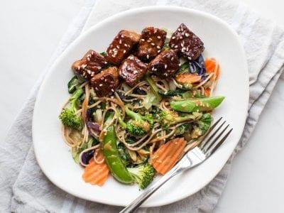 Veggie Beef Lo Mein