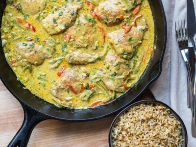 easy and healthy meal prep coconut curry chicken