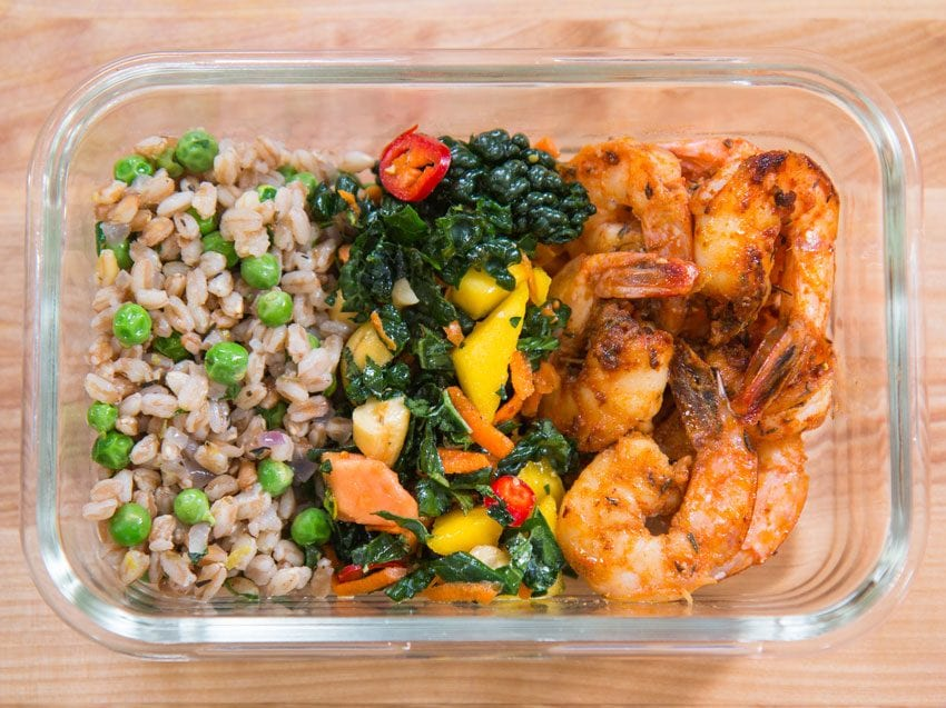Easy Shrimp Mexican Rice And Beans Meal Prep Bobby Parish Flavcity