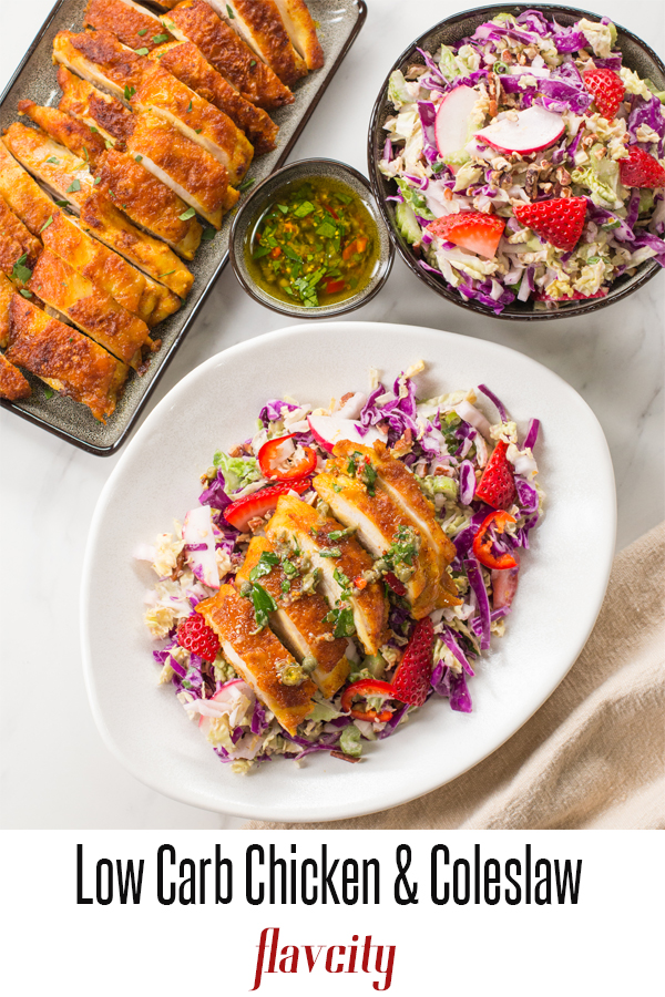 Keto Chicken Thighs With Crunchy Coleslaw Recipe