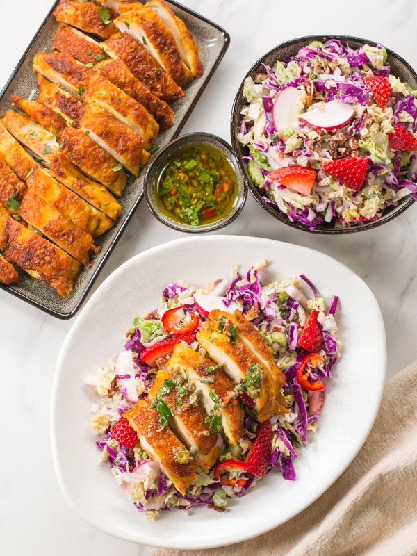 chicken thighs & salsa verde