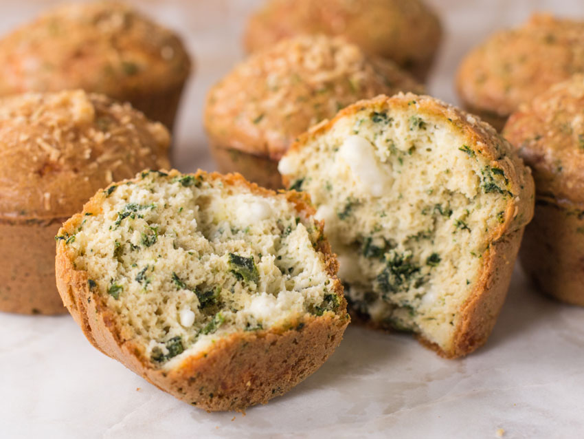 keto muffins with spinach