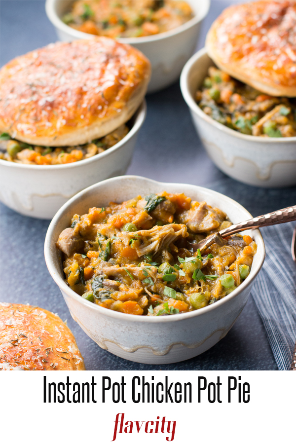The Ultimate Instant Pot Chicken Pot Pie | FlavCity with ...