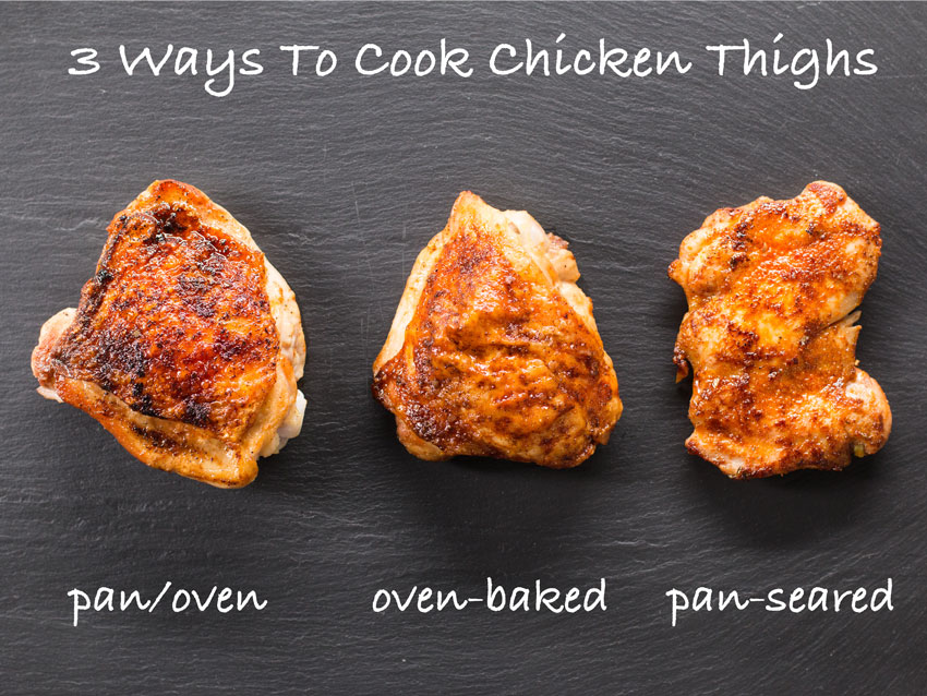 3 Ways To Cook Juicy Chicken Thighs Kitchen Basics By Flavcity