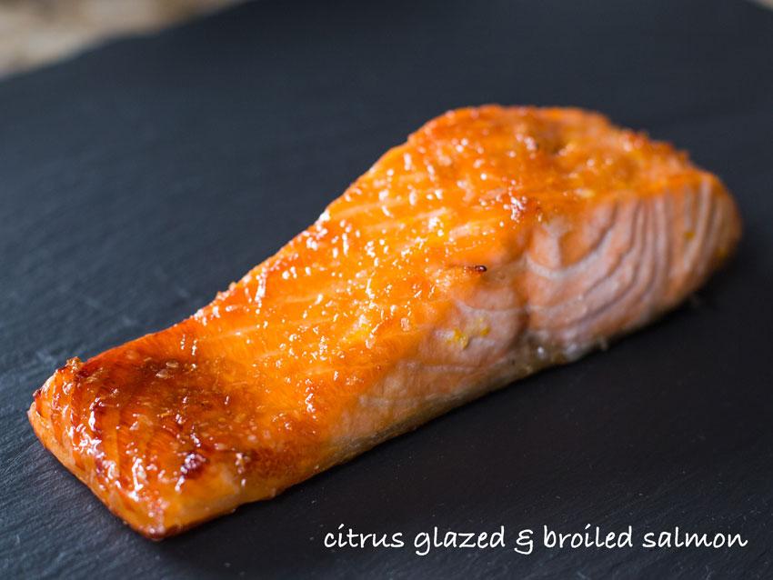 brown sugar glazed broiled salmon