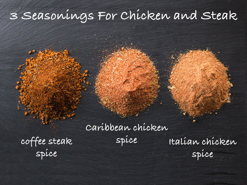 Chicken and Steak Seasoning Rubs