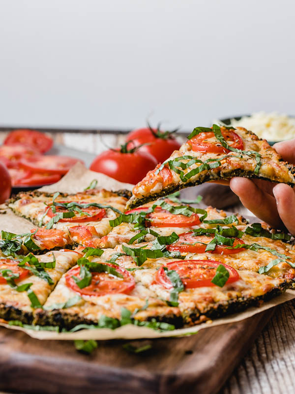 Keto Broccoli Kale Pizza Crust Recipe