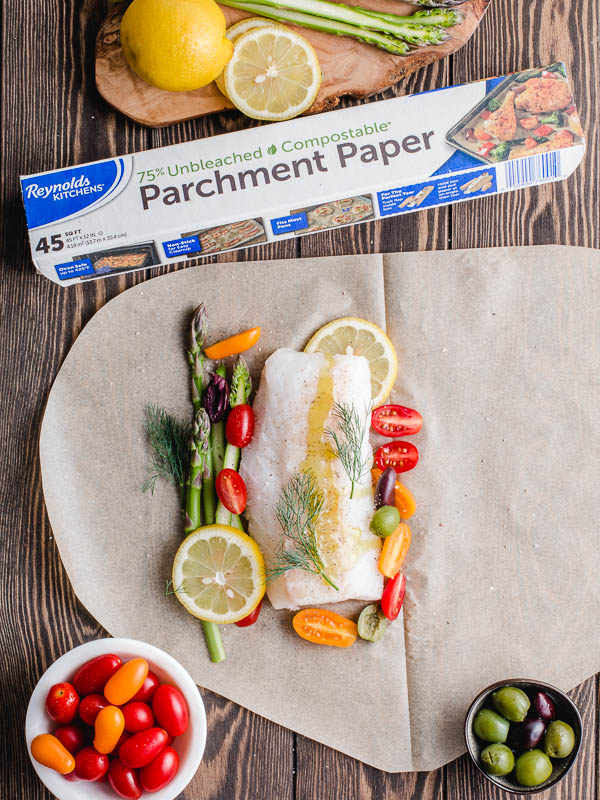 fish in parchment