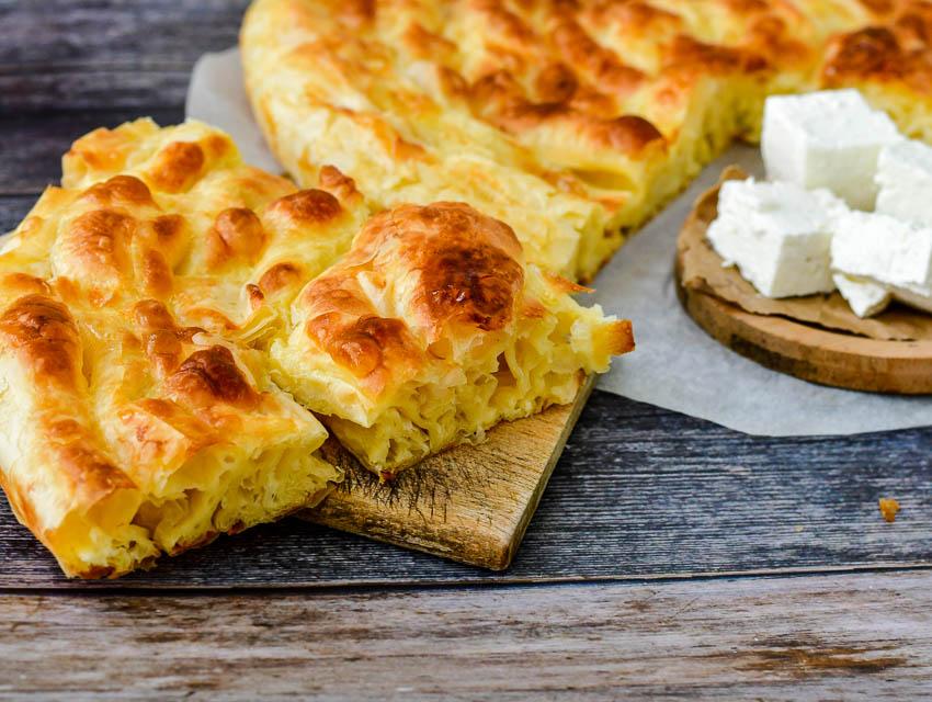 Bulgarian feta cheese pie.