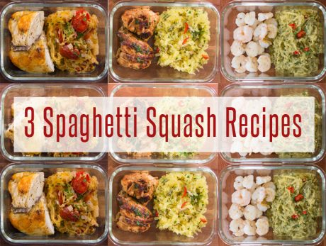 3 spaghetti squash meal prep recipes