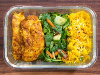 golden rice and chicken meal prep